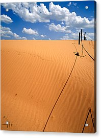 Dunes And Clouds Acrylic Print
