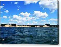 Dunes And Lake Michigan Acrylic Print by Michelle Calkins