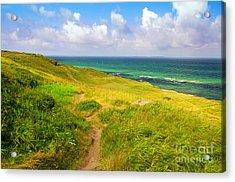 Dunes And Ocean Acrylic Print