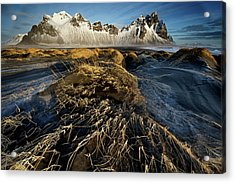 Dunes And Sea Interact Acrylic Print