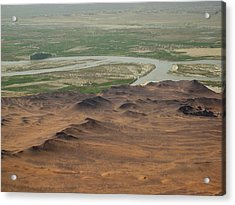 Dunes Around Helmand River Valley Acrylic Print by Jetson Nguyen