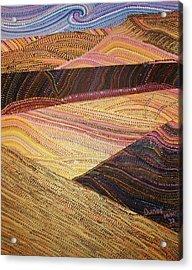 Dunes Acrylic Print by Maria VanderMolen