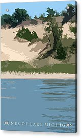 Dunes Of Lake Michigan Acrylic Print by Michelle Calkins