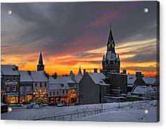 Dunfermline Winter Sunset Acrylic Print