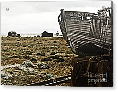 Dungeness Landscape Acrylic Print by Lesley Rigg