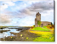 Dunguaire Castle In County Galway Ireland Acrylic Print by Mark E Tisdale