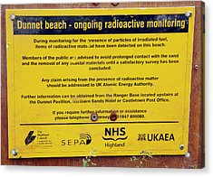 Dunnet Beach Radiation Monitoring Acrylic Print by Public Health England