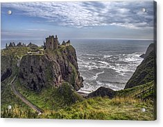 Dunnottar Castle And The Scotland Coast Acrylic Print
