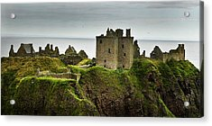 Acrylic Print featuring the photograph Dunnottar Castle Scotland by Sally Ross