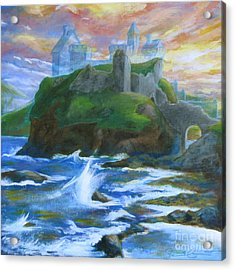 Dunscaith Castle - Shadows Of The Past Acrylic Print