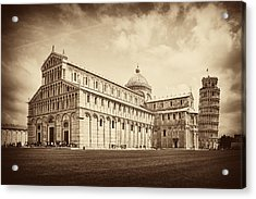 Acrylic Print featuring the photograph Duomo And Tower by Hugh Smith