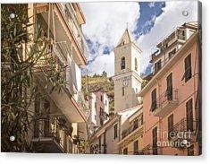 Duomo Bell Tower Of Manarola Acrylic Print