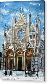 Duomo Sienna Acrylic Print by Tom Smith