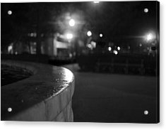 Dupont Circle Fountain Side Acrylic Print by Michael Williams