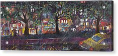 Dupont In The Rain Acrylic Print by Leela Payne