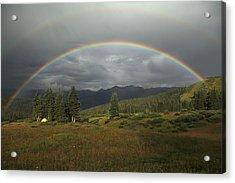 Durango Double Rainbow Acrylic Print