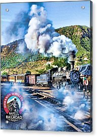 Durango Steam Locomotive Acrylic Print by Tom Schmidt