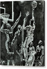 Durant For The Win Acrylic Print by Ezra Strayer
