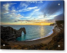 Durdle Door Sunset Acrylic Print