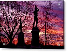 Durell's Independent Battery D And 48th Pa Volunteer Infantry-a1 Sunset Antietam Acrylic Print