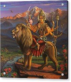 Durga Ma Acrylic Print by Vrindavan Das