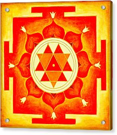 Durga Yantra Is A Powerful Yantra For Transformation Of Consciousness Acrylic Print