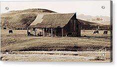 Durham California Barn Acrylic Print