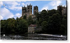 Durham Cathedral And Fulling Mill Acrylic Print by Trevor Kersley