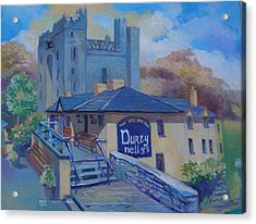 Durty Nellys And  Bunratty Castle Co Clare Ireland Acrylic Print