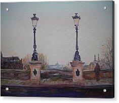 Dusk, 2010 Oil On Canvas Acrylic Print