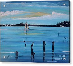 Dusk Approaching  Acrylic Print by Marilyn  McNish