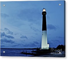 Dusk At Barnegat Lighthouse Acrylic Print by Mark Miller