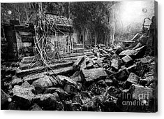 Acrylic Print featuring the photograph Dusk At Beng Mealea by Julian Cook