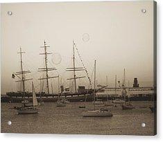 Acrylic Print featuring the photograph Dusk At Fishermans Wharf by Hiroko Sakai