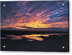 Dusk At The Beach Acrylic Print