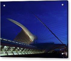 Acrylic Print featuring the photograph Dusk At The Calatrava by Chuck De La Rosa