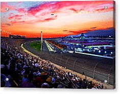 Dusk At The Racetrack Acrylic Print