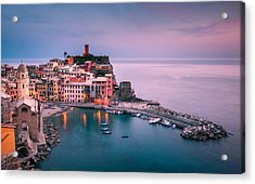 Dusk At Vernazza Acrylic Print