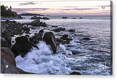 Dusk At West Quoddy Head Light Acrylic Print by Marty Saccone
