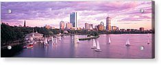 Dusk Boston Ma Acrylic Print by Panoramic Images