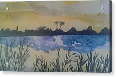 Dusk Acrylic Print by Judi Goodwin
