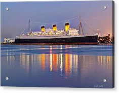 Dusk Light On The Queen Mary Acrylic Print