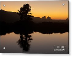 Dusk On Russian River - 7059 Acrylic Print by Stephen Parker