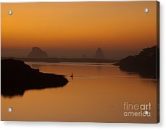 Dusk On Russian River 1.7062 Acrylic Print by Stephen Parker