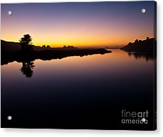 Dusk On Russian River 2.2751 Acrylic Print by Stephen Parker