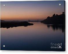Dusk On Russian River  2.2753 Acrylic Print by Stephen Parker
