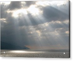 Dusk On The Bay Of Banderas  Acrylic Print by Studio Tolere