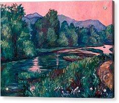 Dusk On The Little River Acrylic Print by Kendall Kessler