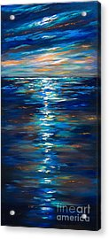 Dusk On The Ocean Acrylic Print