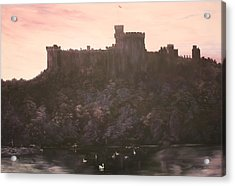 Acrylic Print featuring the painting Dusk Over Windsor Castle by Jean Walker
